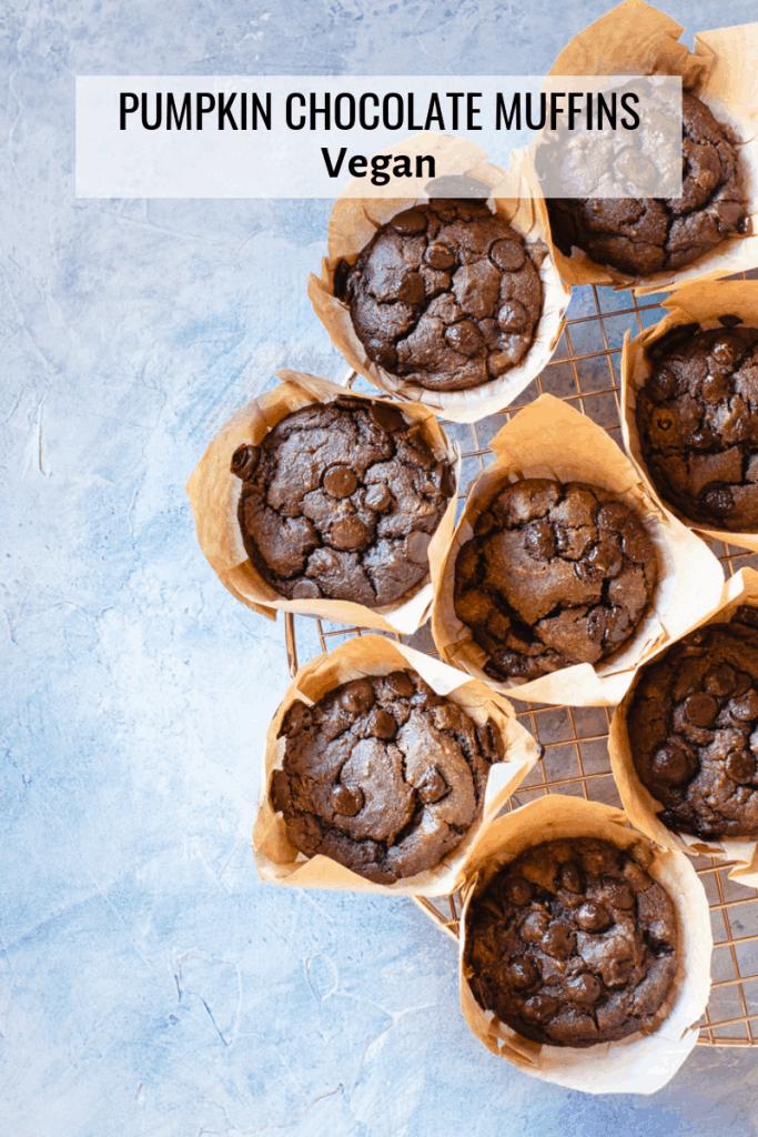pumpkin chocolate muffins
