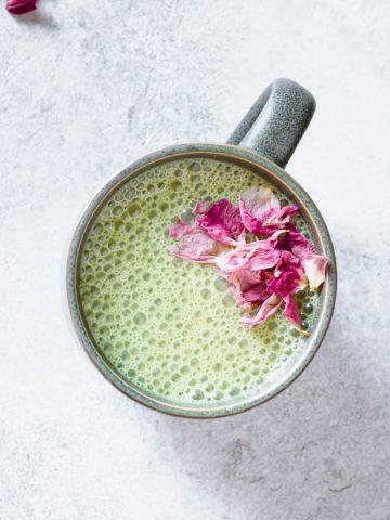pandan cashew milk latte Resplendent Kitchen