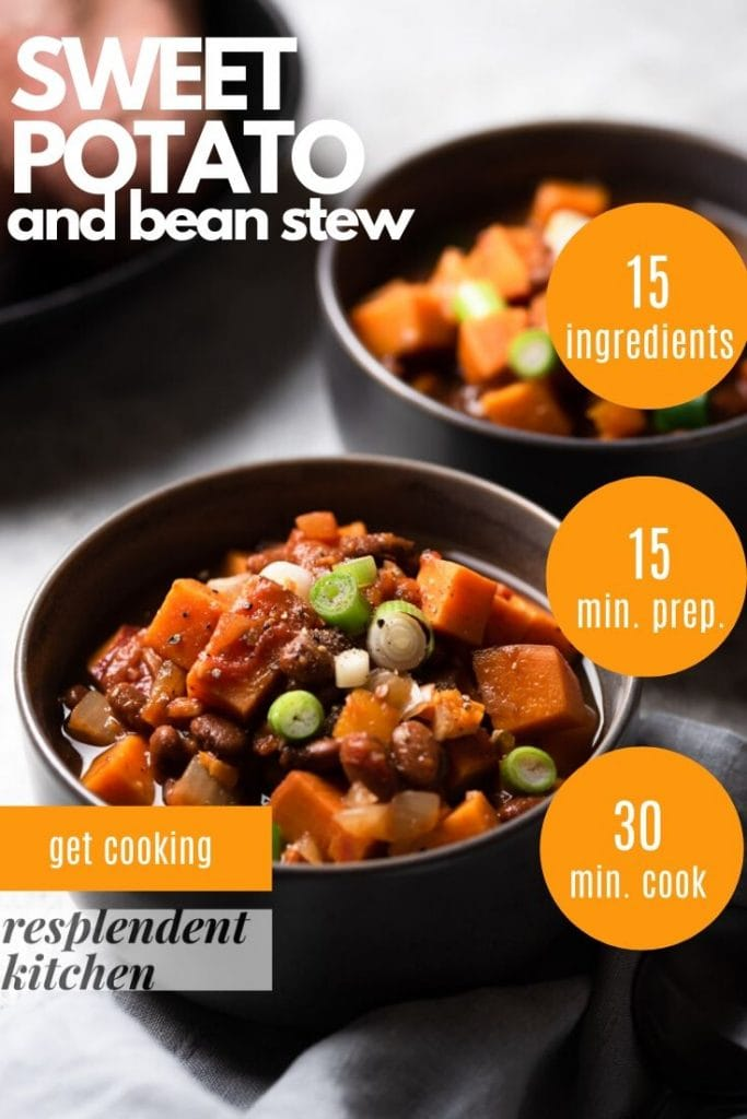 sweet potato and bean stew