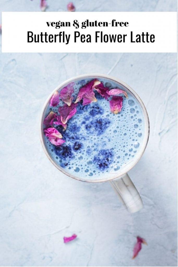 butterfly pea flower latte