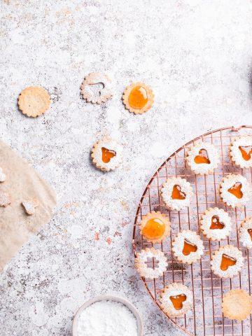 vegan Linzer cookies Resplendent Kitchen