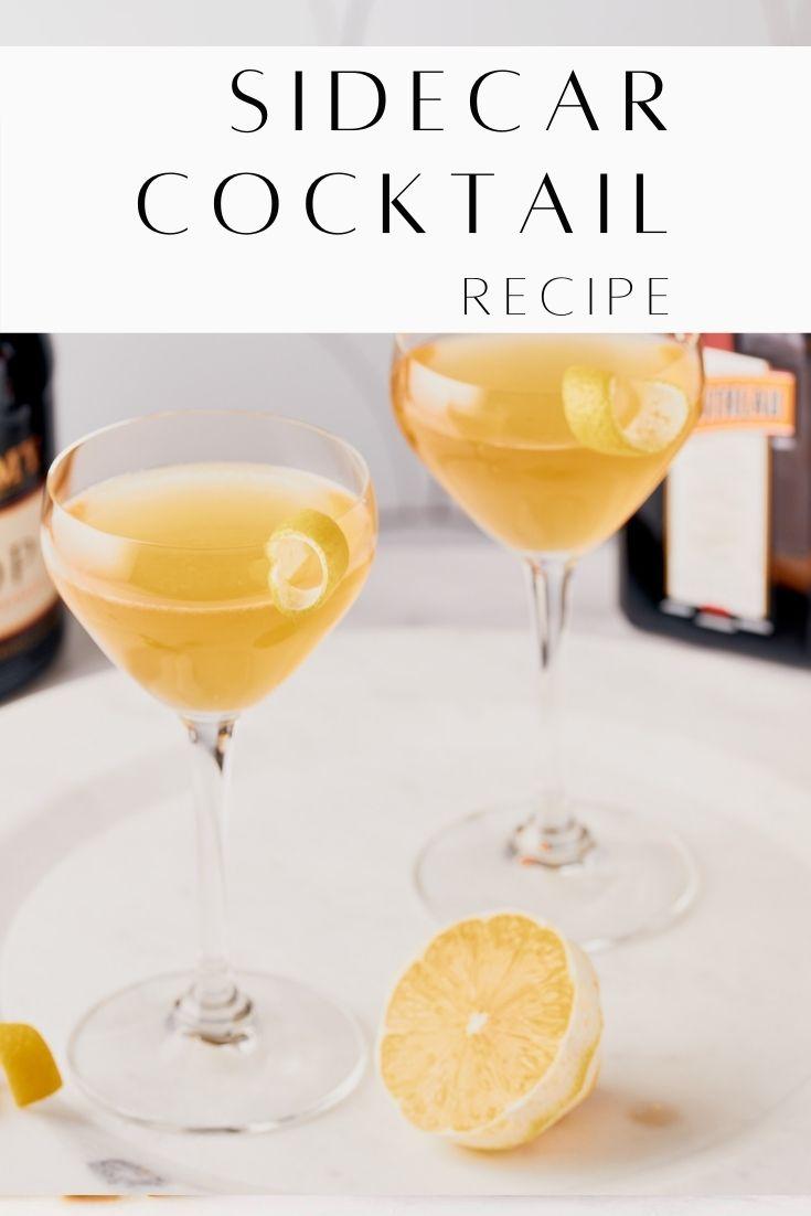 Sidecar Cocktail Recipe Resplendent Kitchen pin