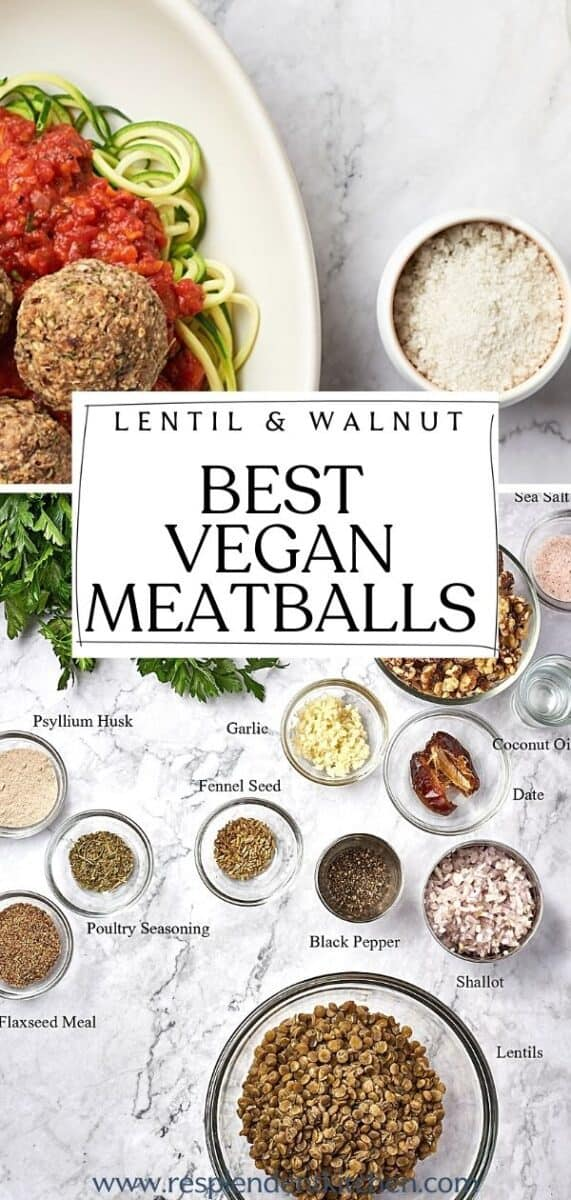 pin for the best vegan meatballs without tofu