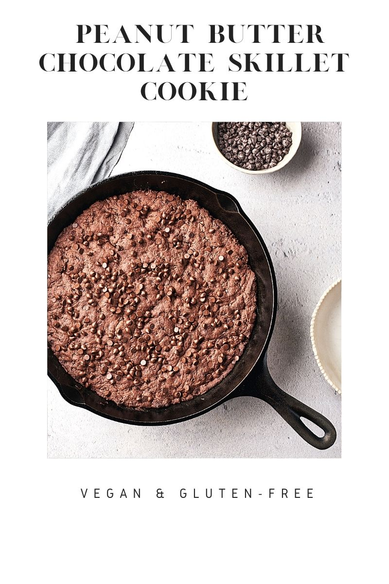 Peanut Butter Chocolate Skillet Cookie