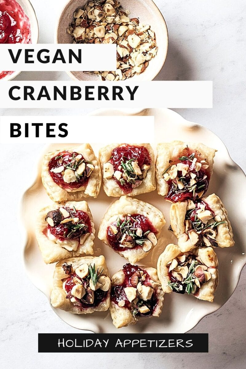 Vegan Cranberry Cream Cheese Bites