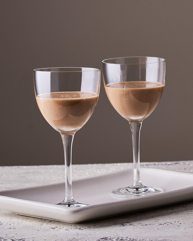 vegan Irish Cream two glasses