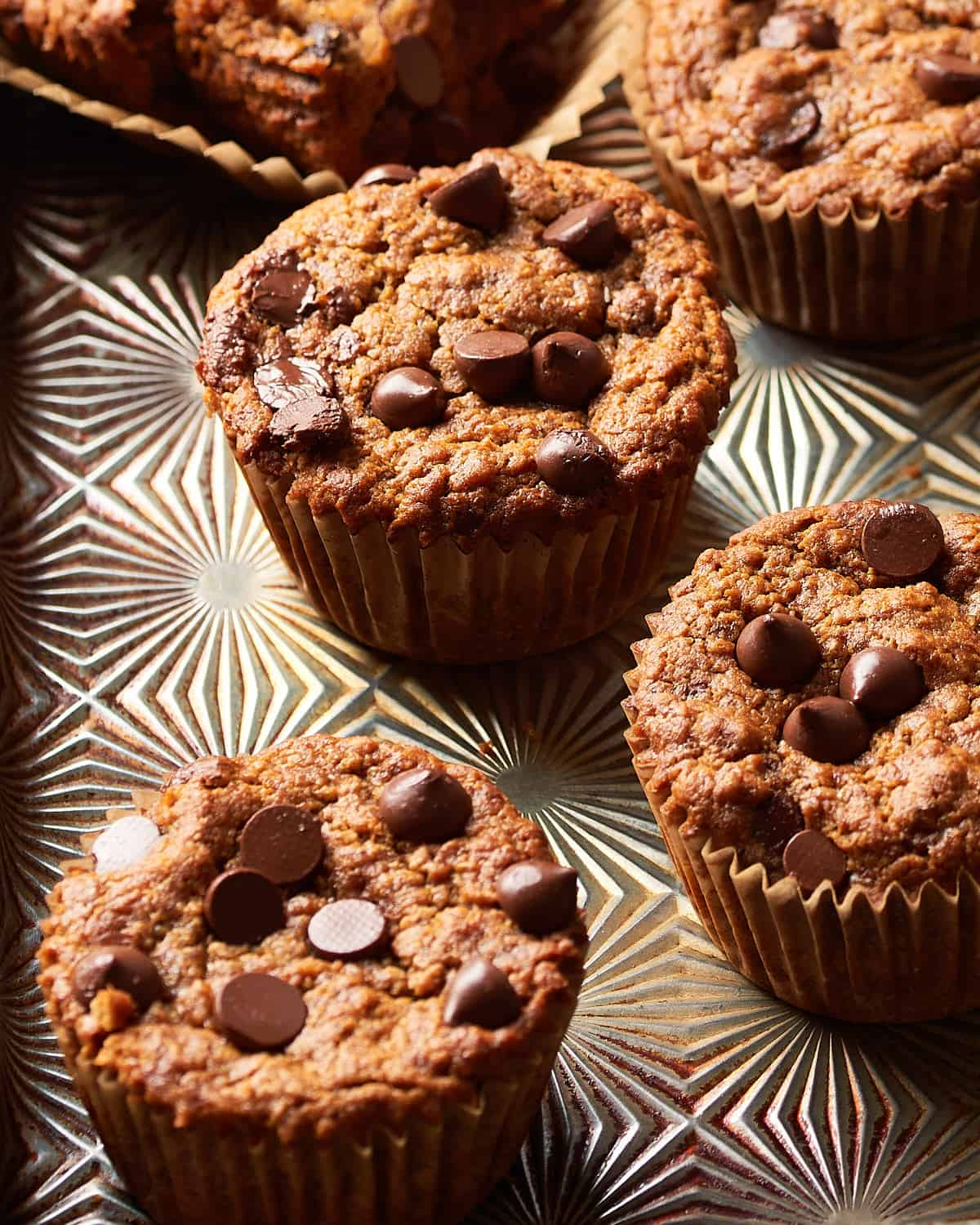 side angle of muffins in tin