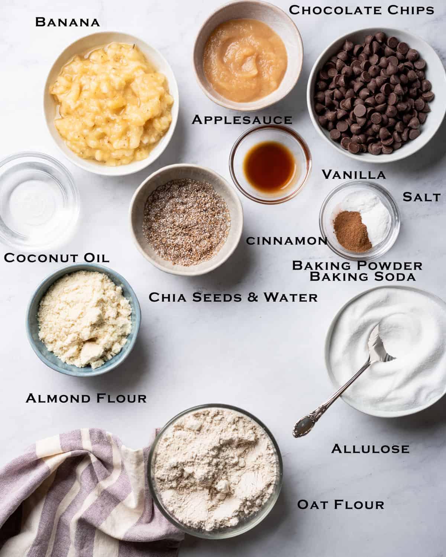 top view of ingredients