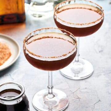 side view of 2 Tamarind Margaritas