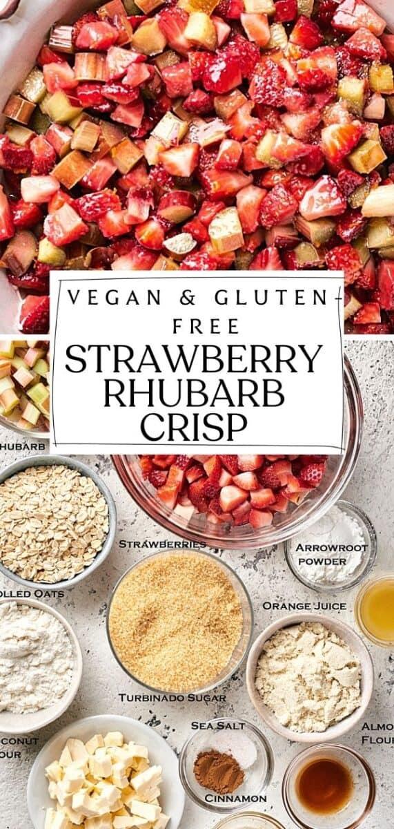 Healthy & Refined Sugar free Strawberry Rhubarb Crisp