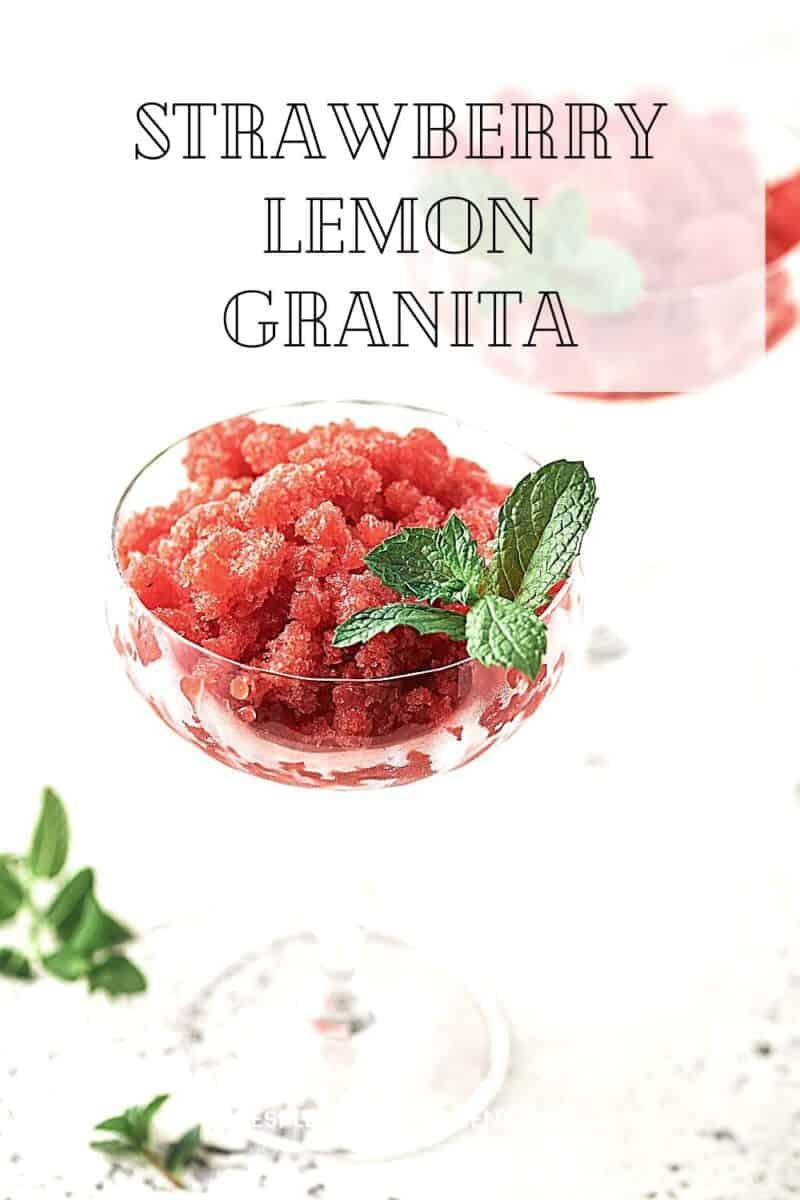 Strawberry Lemon Granita Resplendent Kitchen