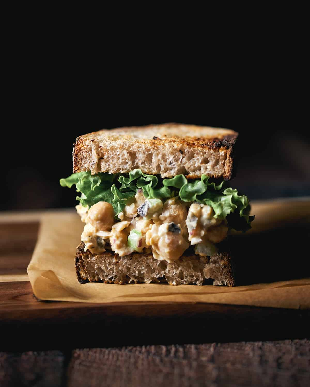 "Vegan Chickpea ""Tuna"" Salad Sandwich Recipe"